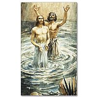 Christ Being Baptized By John the Baptist