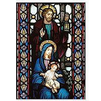 Stained Glass Holy Family