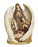 Holy Family In Angel Wings Figurine