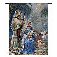 Holy Night Fiber Optic Wall Hanging