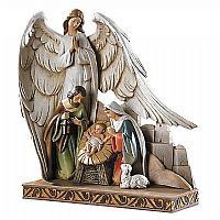 Nativity with Angel Figure