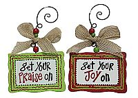 Wood Joy/Praise Ornaments