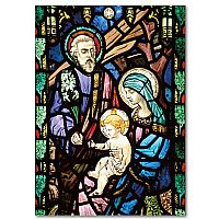 Holy Family on Stained Glass