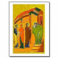Presentation in the Temple Icon Greeting Card