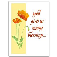 God gives us many blessings...