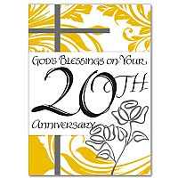 God's Blessings on Your 20th Anniversary