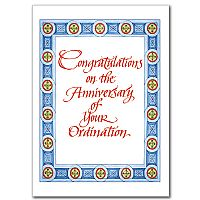 Congratulations on the Anniversary of Your Ordination
