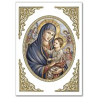 Madonna and Child in Oval Frame