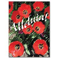 Red Tulips with Alleluia