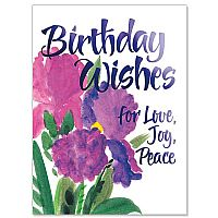 Birthday Wishes for Love, Joy, Peace