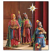 Three Wise Men Following the Christmas Star