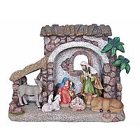 1-Piece Holy Family with Creche
