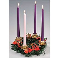 Berry Advent Wreath Candleholder