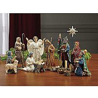 "7"" Real Life Nativity 14 Piece Figurine Set"