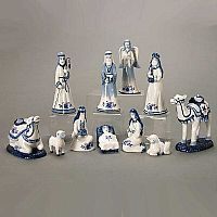 Delft Blue Nativity Set