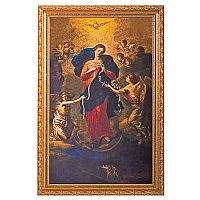 Mary, Undoer of Knots Gold Framed Print