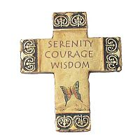 Serenity, Courage and Wisdom Fresco Cross