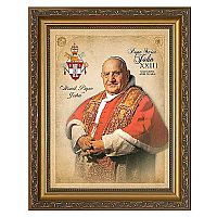 Pope Saint John XXIII Commemorative Portrait Framed Art