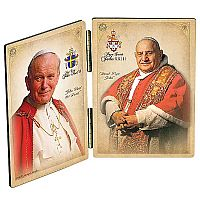 Saints John XXIII and John Paul II Commemorative Diptych