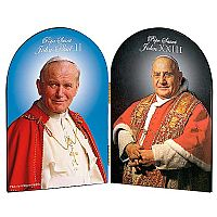Saints John XXIII and John Paul II Portrait Arched Diptych