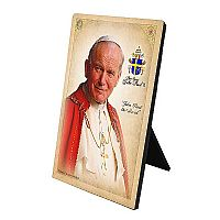 Pope Saint John Paul II Desk Plaque