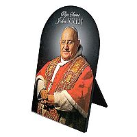 Pope Saint John XXIII Arched Desk Plaque