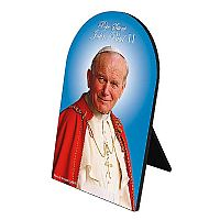 Pope Saint John Paul II Arched Desk Plaque