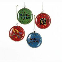 Good News Bubble Glass Ornaments