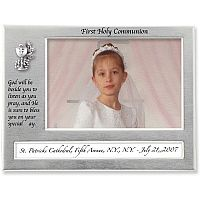 Satin Silver First Communion Frame