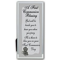 First Communion Mirrored Plaque