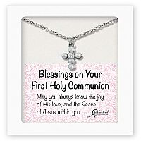Pearl Cross First Communion Pendant