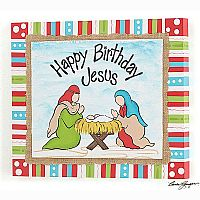 Happy Birthday Jesus Wood Plaque