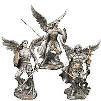 Set of 3 Veronese Archangel Statues
