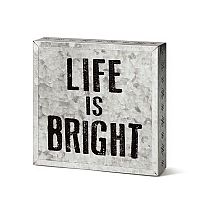 Life is Bright Metal Wall Art