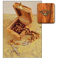 Confirmation Olive Wood Rosary