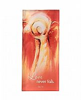 Love Never Fails Glass Plaque