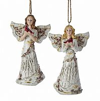 Birch Angels with Cardinals