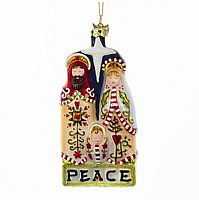 Holy Family Peace Ornament
