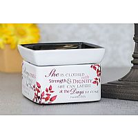 She is Clothed in Strength & Dignity 2-in-1 Candle Warmer