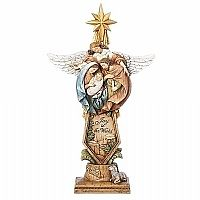 Holy Family with Angel and Star Figurine