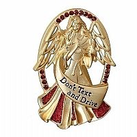Don't Text and Drive Angel Visor Clip