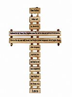 Olivewood Lord's Prayer Cross