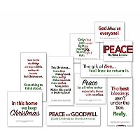 Christmas Message Block Assortment