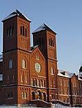 Conception Abbey's Basilica of the Immaculate Conception in winter